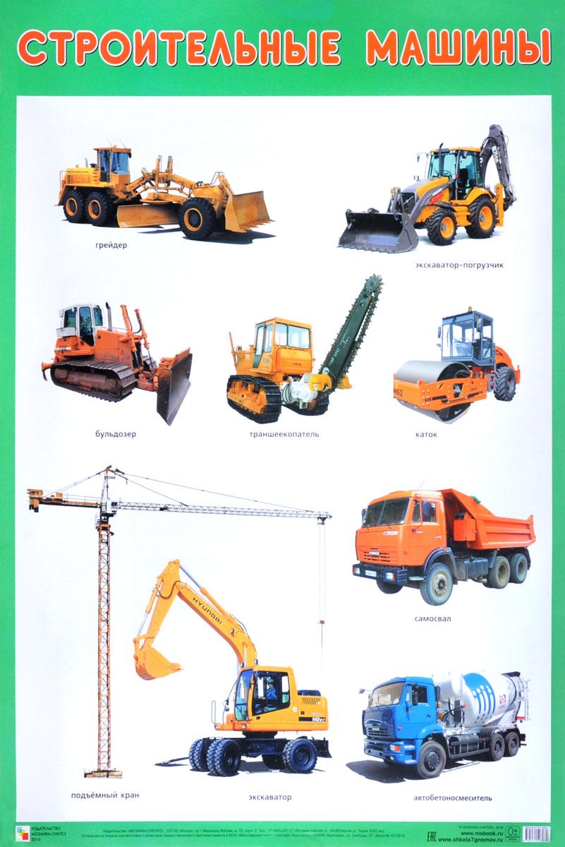 Фото - Строительные машины. Плакат конструктор joy toy строительные машины 1234