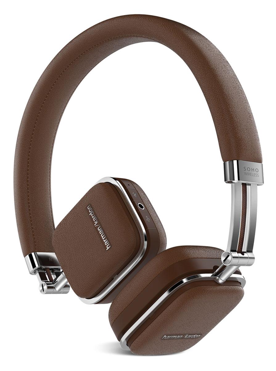 Harman Kardon Soho Wireless, Brown наушники наушники harman kardon soho wireless brown
