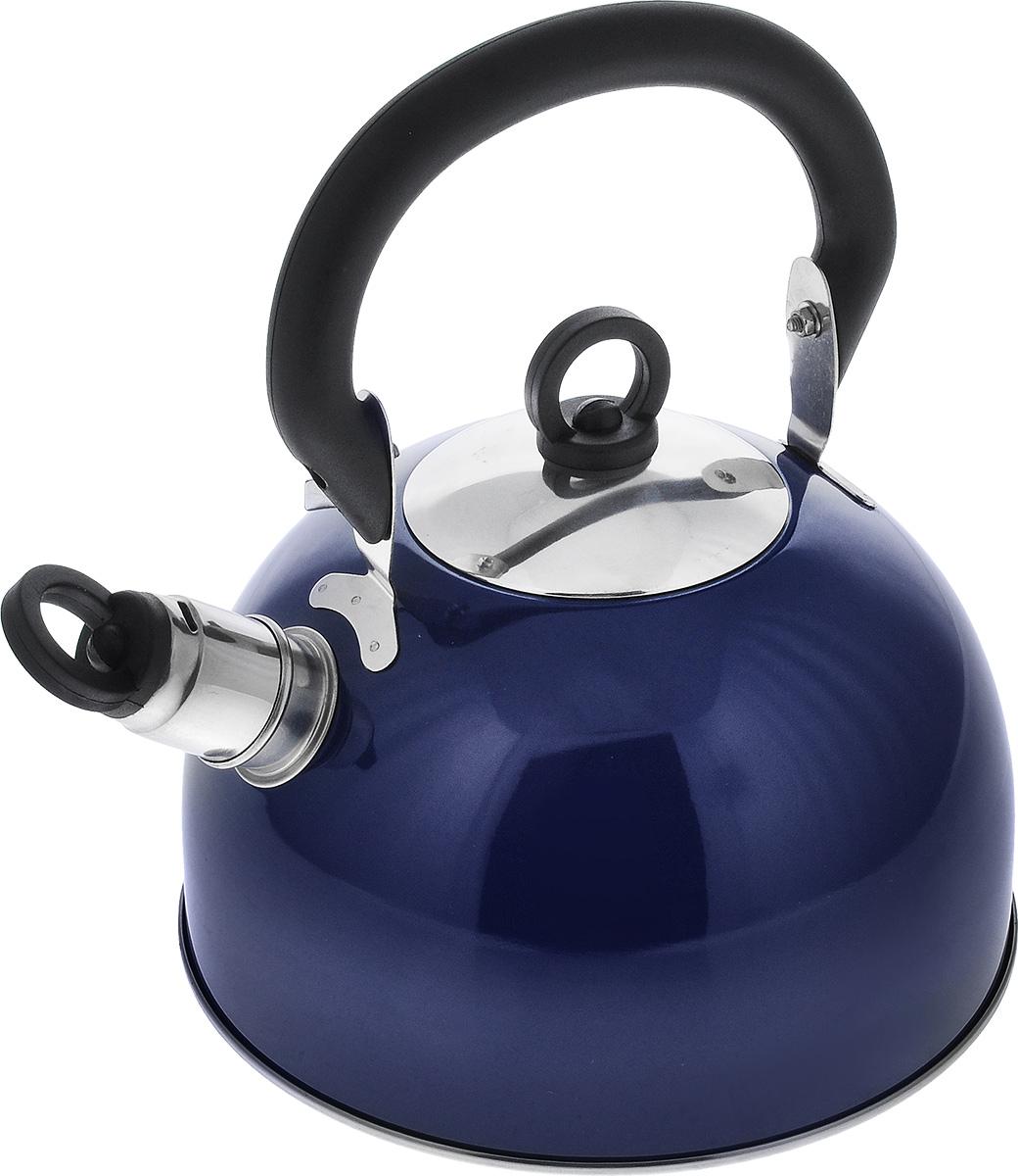 Чайник Bekker Koch со свистком, цвет: синий, 2,5 л. BK-S319M чайник bekker koch со свистком 4 л bk s478