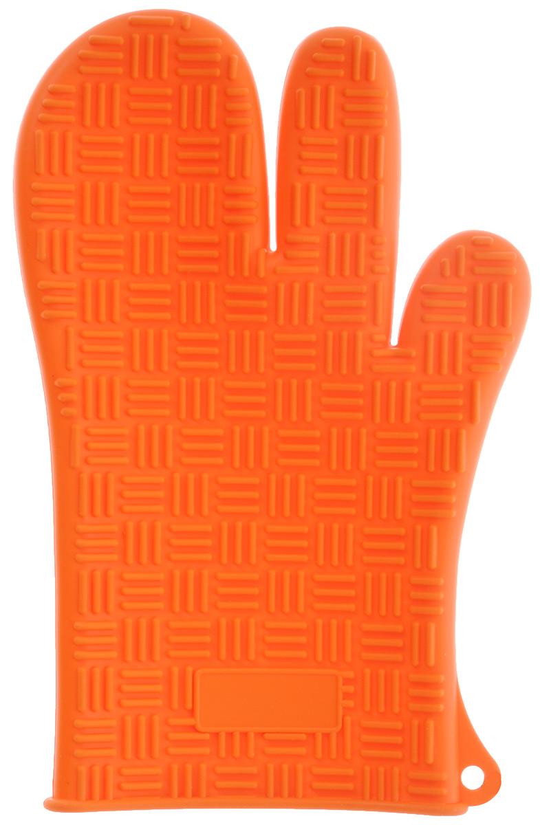 Прихватка-перчатка силиконовая Mayer & Boch, цвет: ярко-оранжевый, 27 см х 17 см прихватка mayer