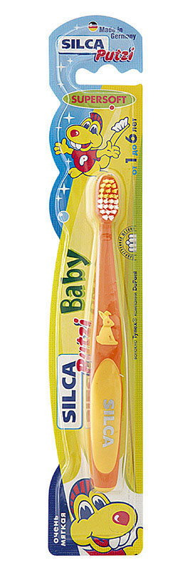 Silca Putzi Зубная щетка Baby от 1 до 6 лет цвет в ассортименте silca dent зубная щетка детская от 2 до 7 лет цвет синий