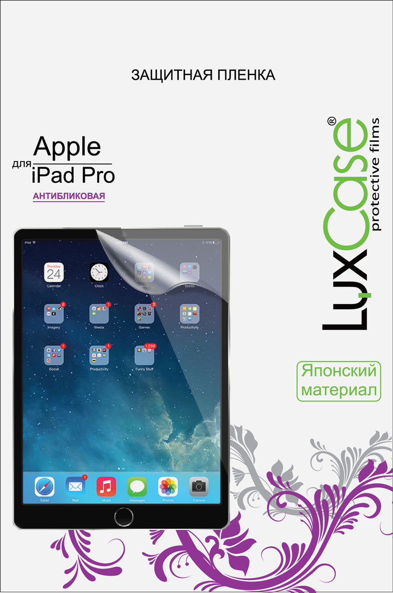 LuxCase защитная пленка для Apple iPad Pro, антибликовая luxcase glass для apple ipad pro 12 9 2018