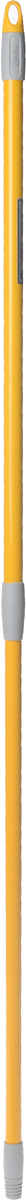 Ручка для швабры Apex, телескопическая, цвет: желтый, серый, 77-132 см швабра apex minor с отжимом цвет желтый серый 28 см