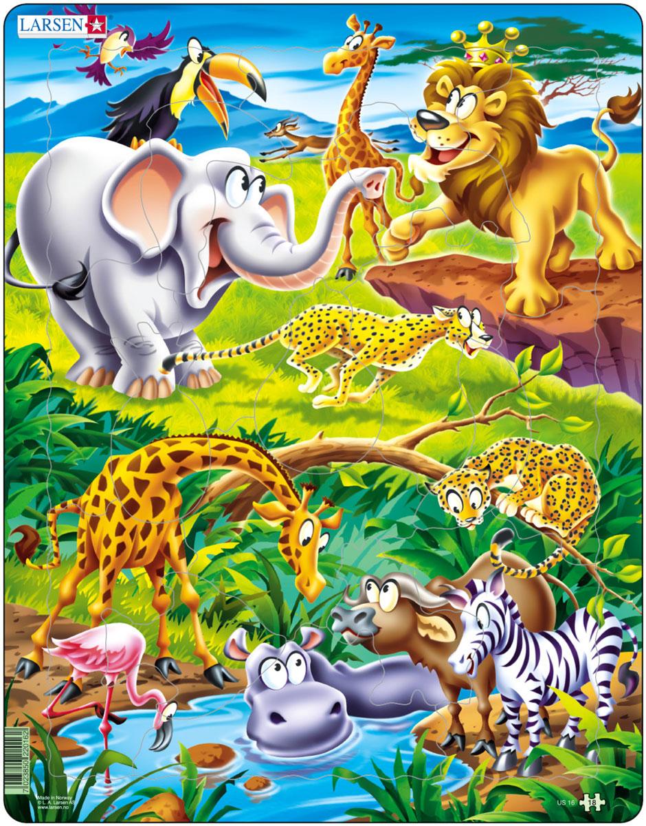 Larsen Пазл Животные сафари пазл животные сафари djeco пазл животные сафари