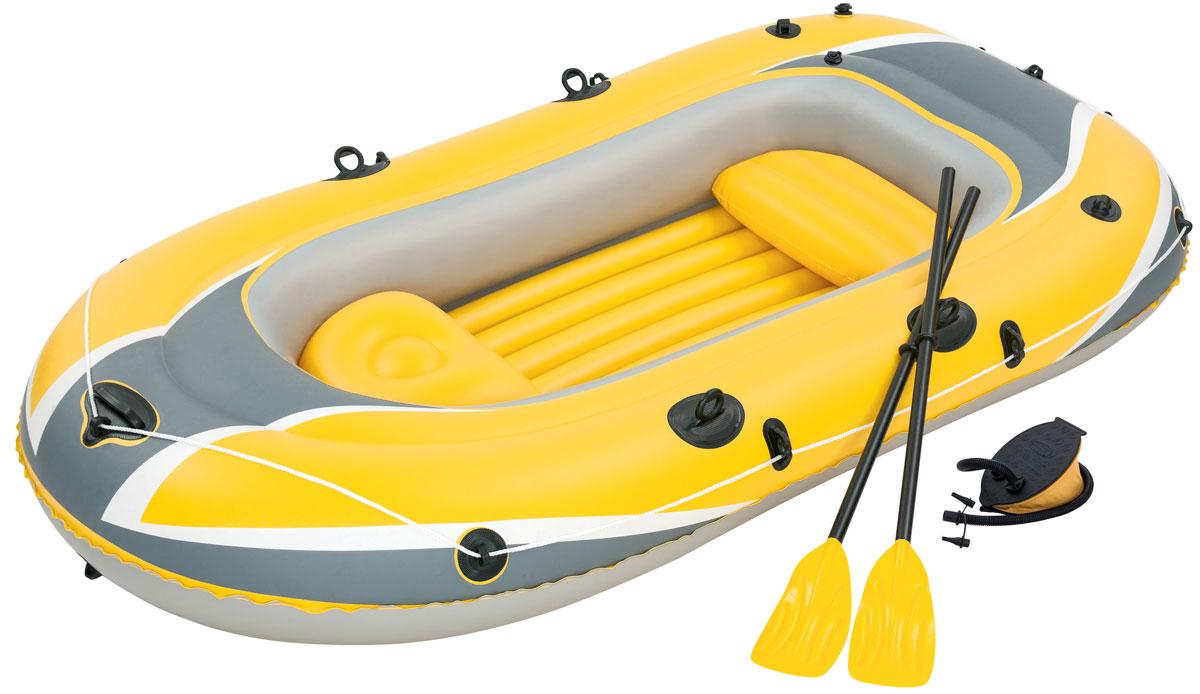 """Bestway Лодка надувная """"Hydro-Force"""", с веслами и насосом, 255 х 127 см"""