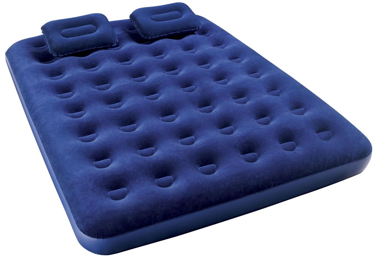 Bestway Матрас надувной с ручным насосом и 2 подушками 203 х 152 х 22 см 67374 Уцененный товар №16