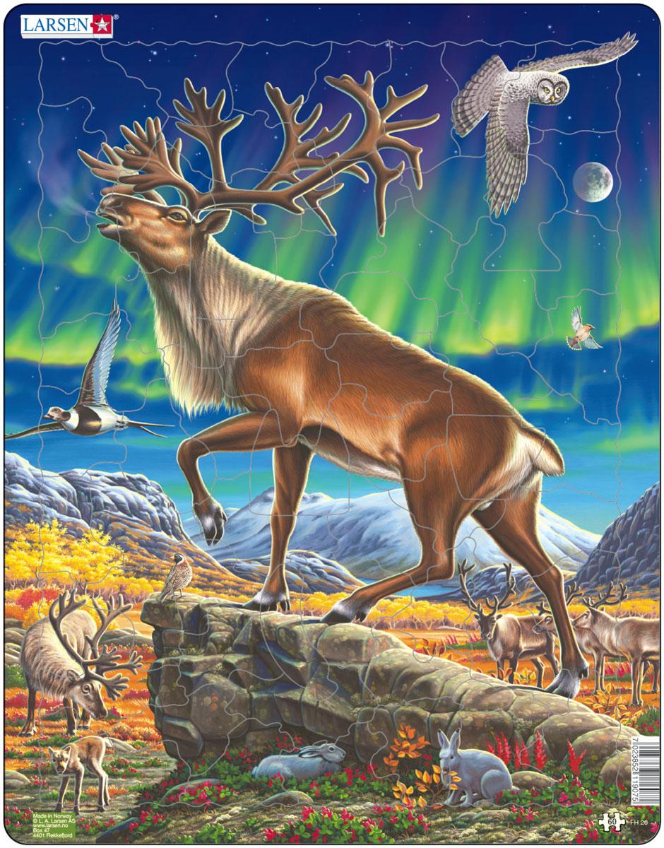 Larsen Пазл Северный олень 3d пазл expetro голова благородного оленя 10640