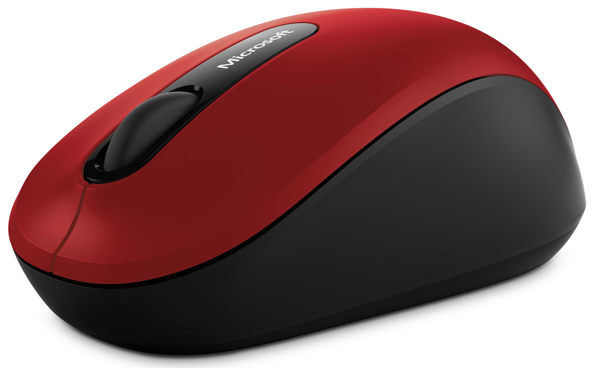 Мышь Microsoft Bluetooth Mobile Mouse 3600, Red беспроводная мышь microsoft 3600 pn7 00014 red bluetooth