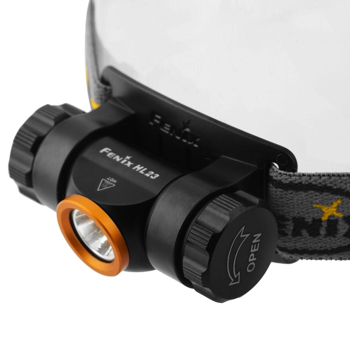 Фонарь налобный Fenix HL23 золотой usb перезаряжаемый высокой яркости ударопрочный фонарик дальнего света конвой sos факел мощный самозащита 18650 батареи