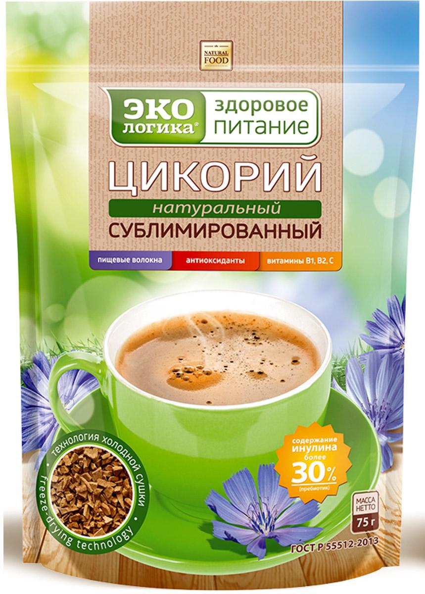 Экологика Здоровое Питание цикорий растворимый сублимированный, 75 г цикорий растворимый натуральный fitolain 100 г