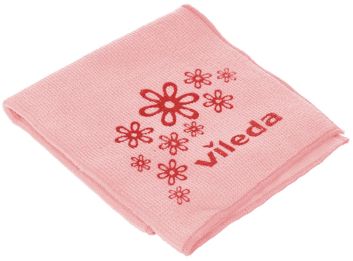 Салфетка универсальная Vileda Микрофибра, цвет: розовый, 32 х 32 см салфетка golden snail микрофибра универсальная 141 gs0322 40 х 60 см
