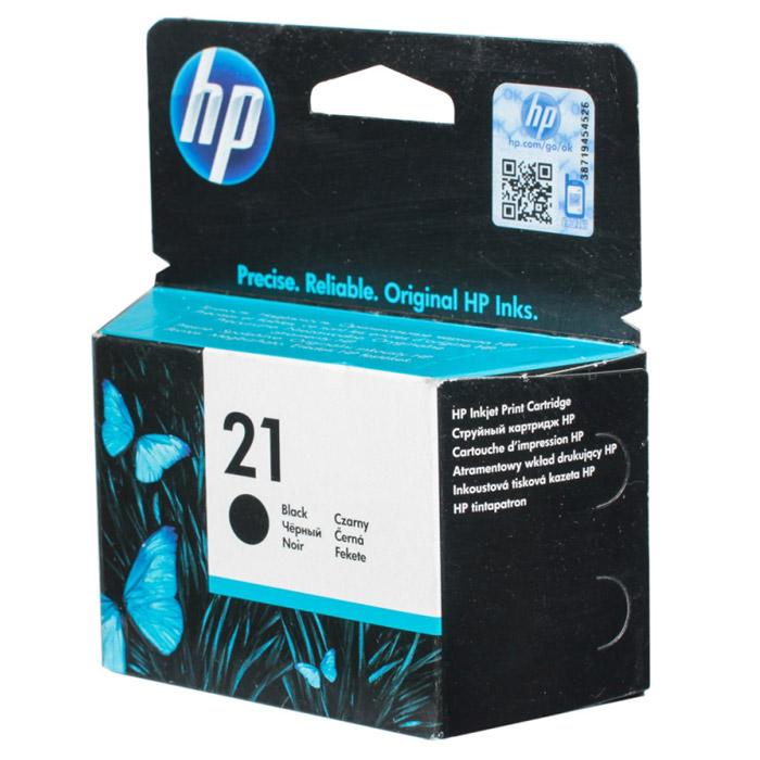 Картридж HP 21, черный, для струйного принтера, оригинал
