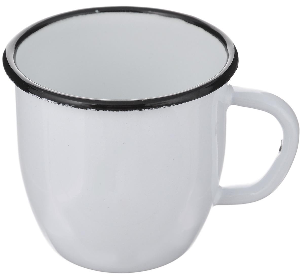 Кружка эмалированная АК ЛМЗ, цвет: белый, 250 мл оптика на ак 74