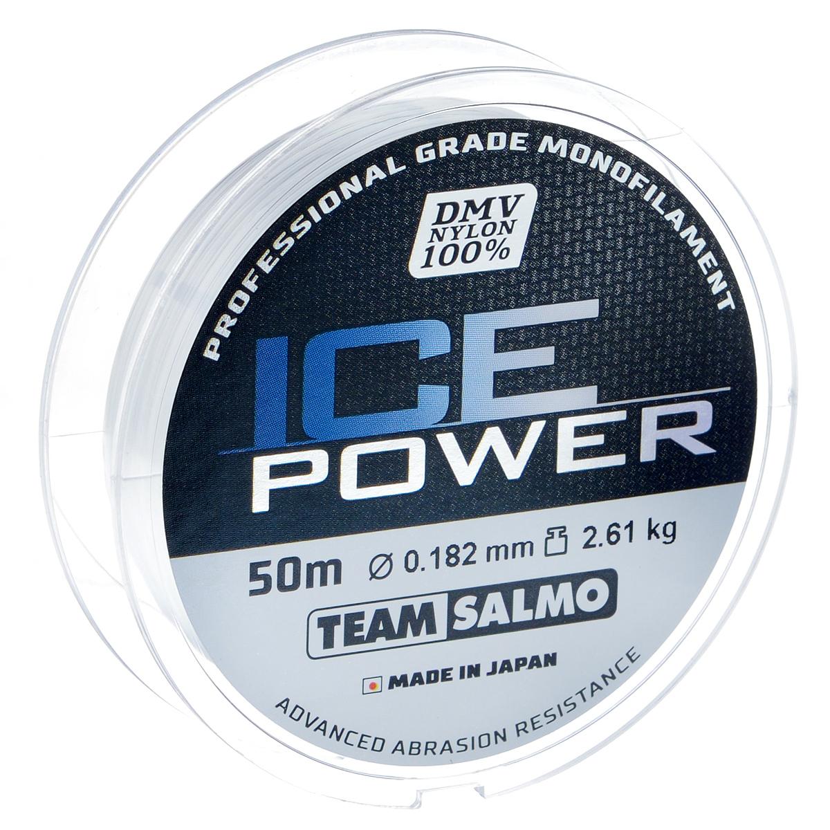 Леска монофильная Team Salmo Ice Power, сечение 0,182 мм, длина 50 м