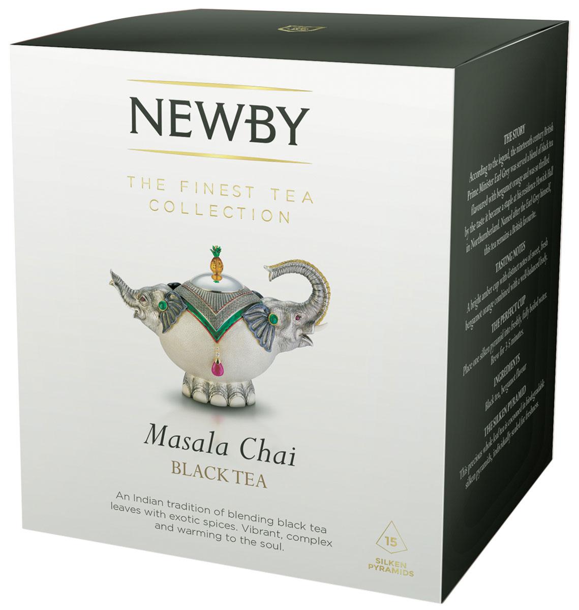 цены на Newby Masala Chai черный листовой чай со специями в пирамидках, 15 шт  в интернет-магазинах