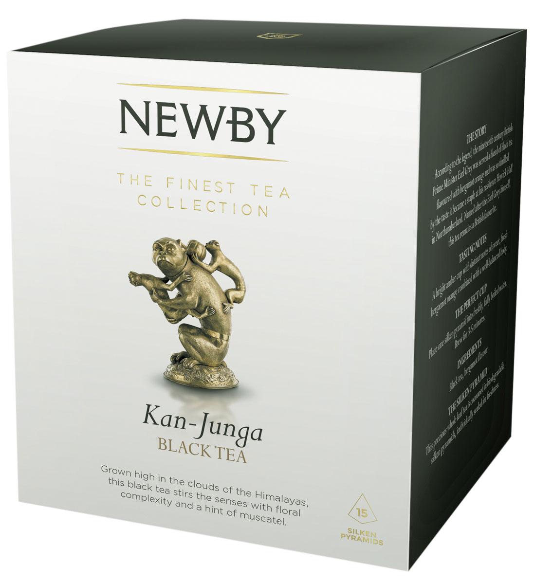 Newby Kan-Junga черный чай в пирамидках, 15 шт601430AСобранный на склонах Гималаев, высокогорный чай весеннего сбора Newby Kan-Junga имеет светлый настой, цветочный аромат и легкий мускатный привкус. Каждая пирамидка упакована в индивидуальное саше из алюминиевой фольги для сохранения свежести чайного листа. Всё о чае: сорта, факты, советы по выбору и употреблению. Статья OZON Гид