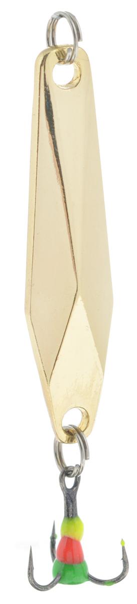 Блесна зимняя SWD, цвет: золотой, 48 мм, 7 г
