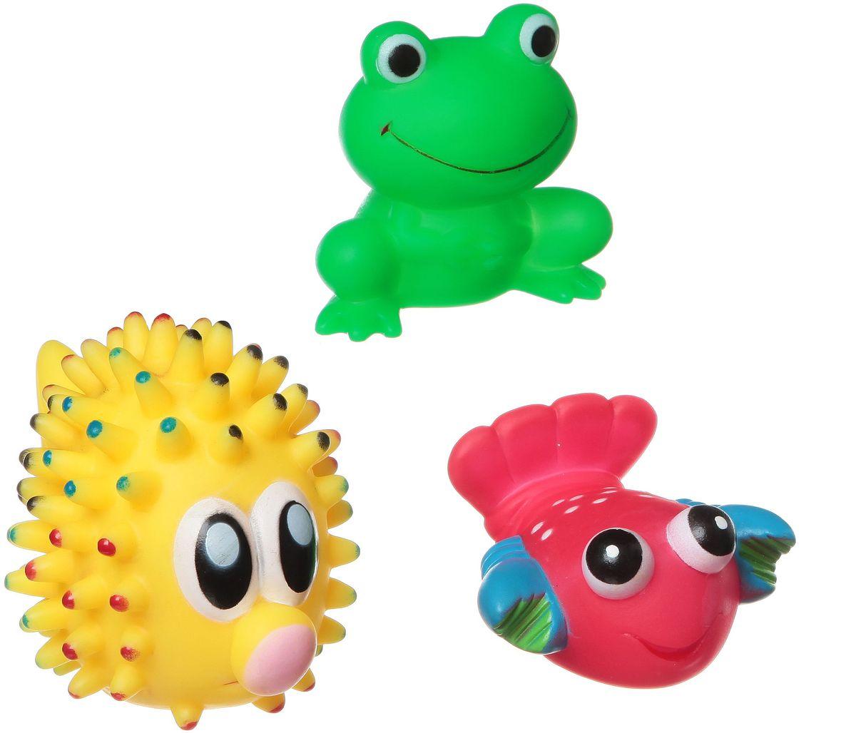 Bondibon Набор для купания Рак, Лягушка, Морской еж bondibon развивающая игрушка bondibon собачка с будкой