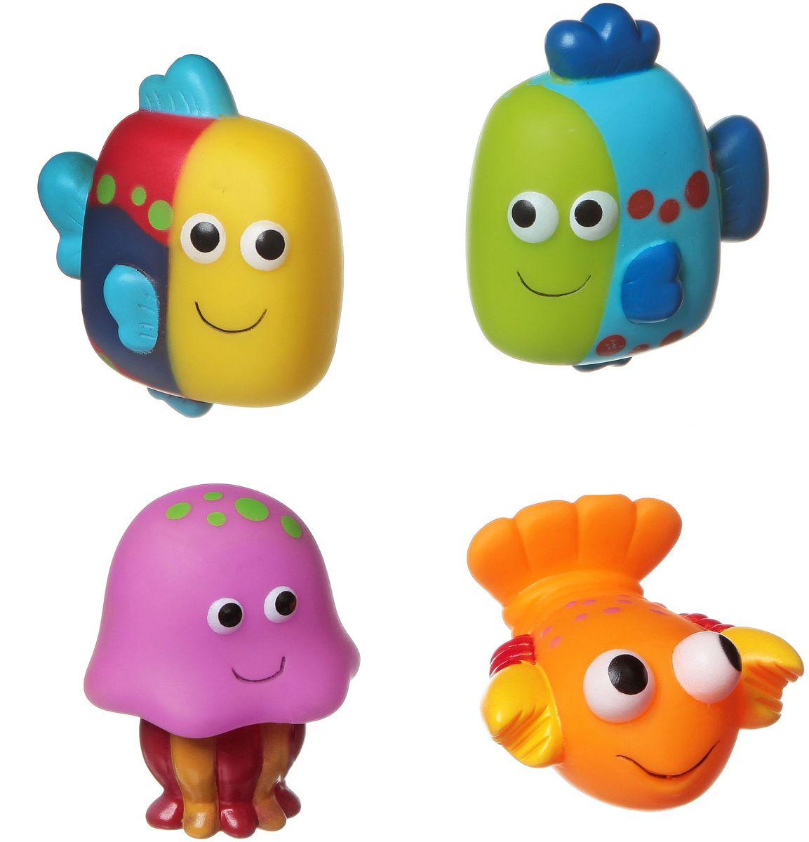 Фото - Bondibon Набор для купания Рыбки, Рак, Медуза bondibon набор для купания рыбы рак медуза разноцветный