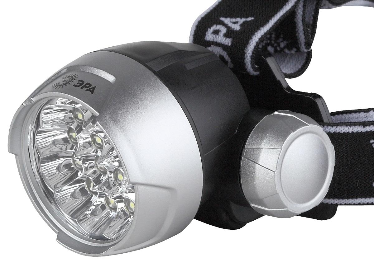 Фонарь налобный Эра, цвет: серебристый, черный. G17 фонарь налобный эра цвет серебристый черный g17