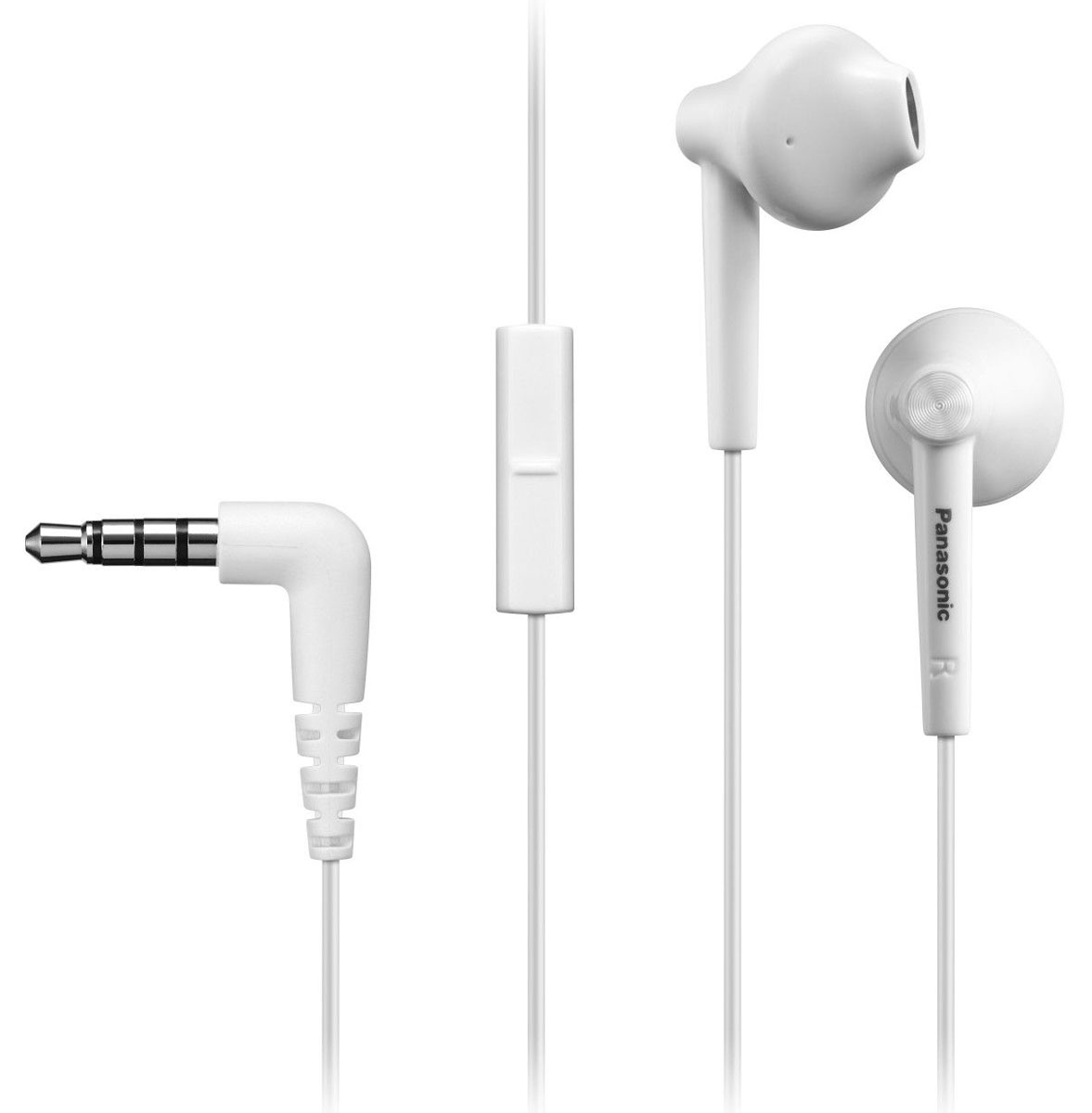 Panasonic RP-TCM50E-W, White наушники panasonic rp tcm50e k in ear headphones microphone and remote control compatible with smartphone clear bass sound custom design
