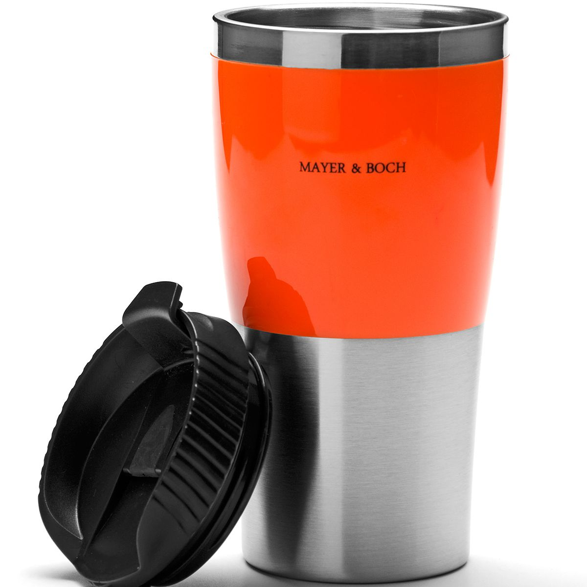"""Кружка-термос """"Mayer & Boch"""", цвет: оранжевый, черный, 450 мл"""