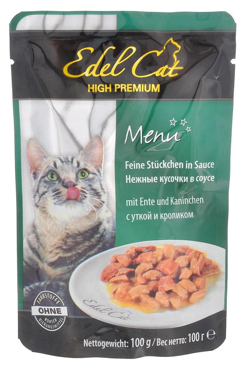 """Консервы для кошек """"Edel Cat"""", с уткой и кроликом в соусе, 100 г"""