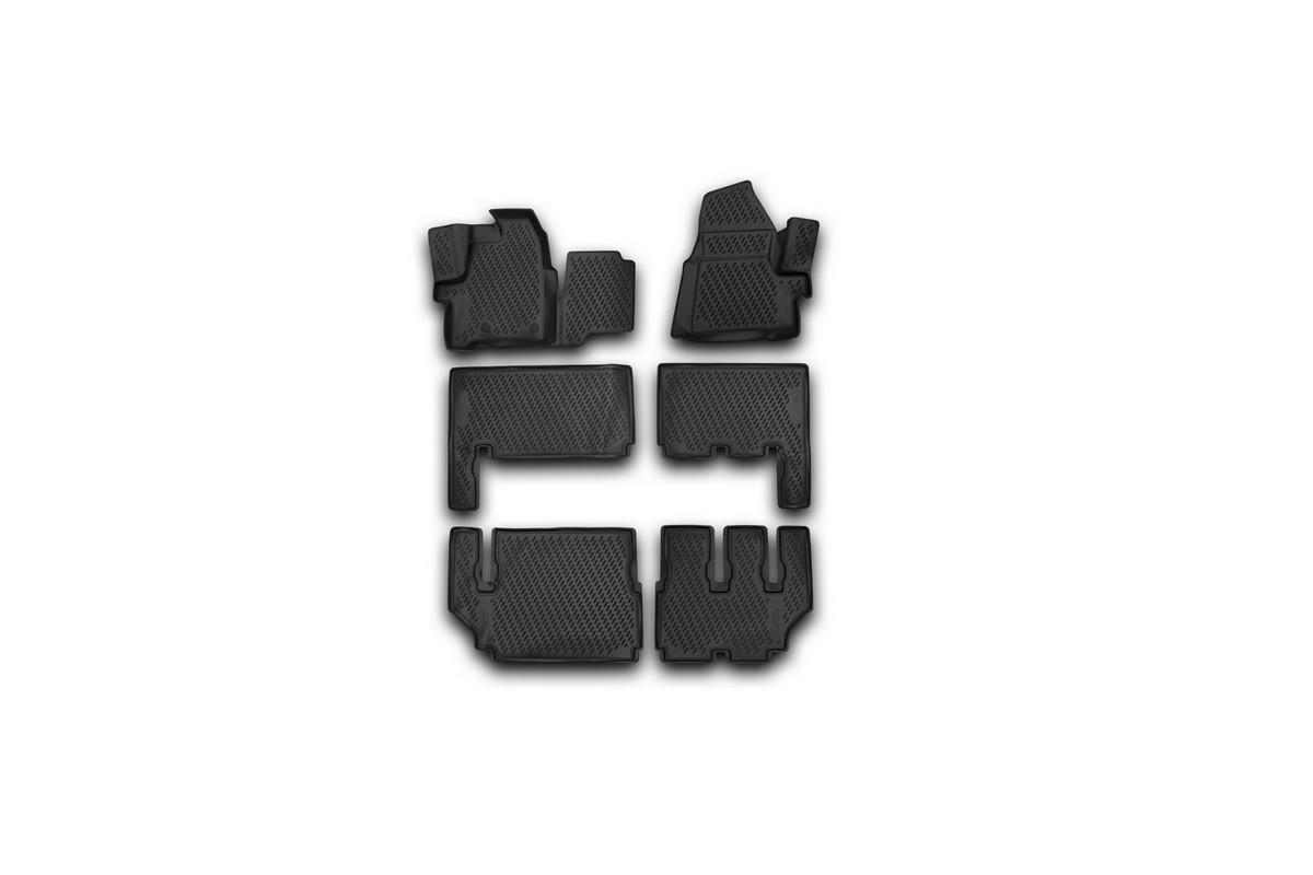 цена на Набор автомобильных 3D-ковриков Element для Ford Tourneo Custom, 2013->, в салон, 6 шт