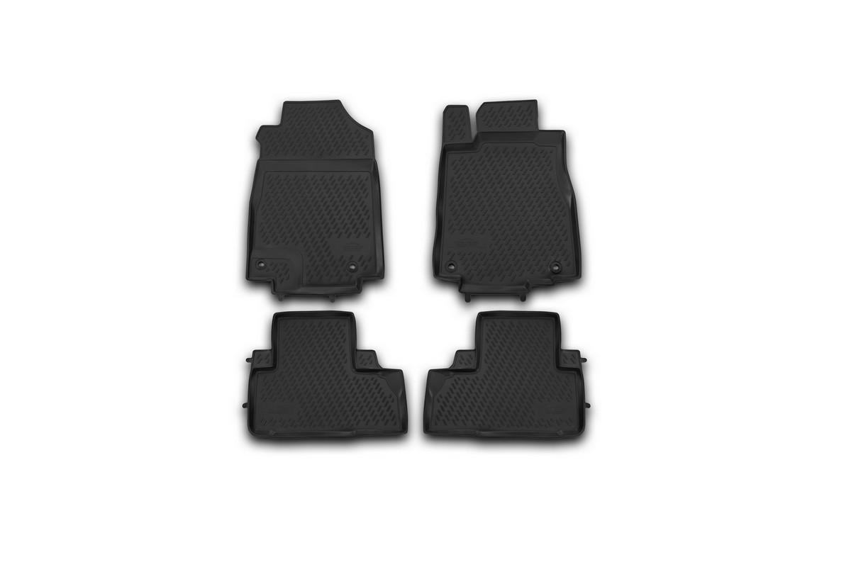 Набор автомобильных ковриков Element для Honda CR-V 2012-2015, 2015-, в салон, цвет: черный, 4 шт комплект ковриков в салон автомобиля autofamily honda jazz 2001 2008 цвет черный
