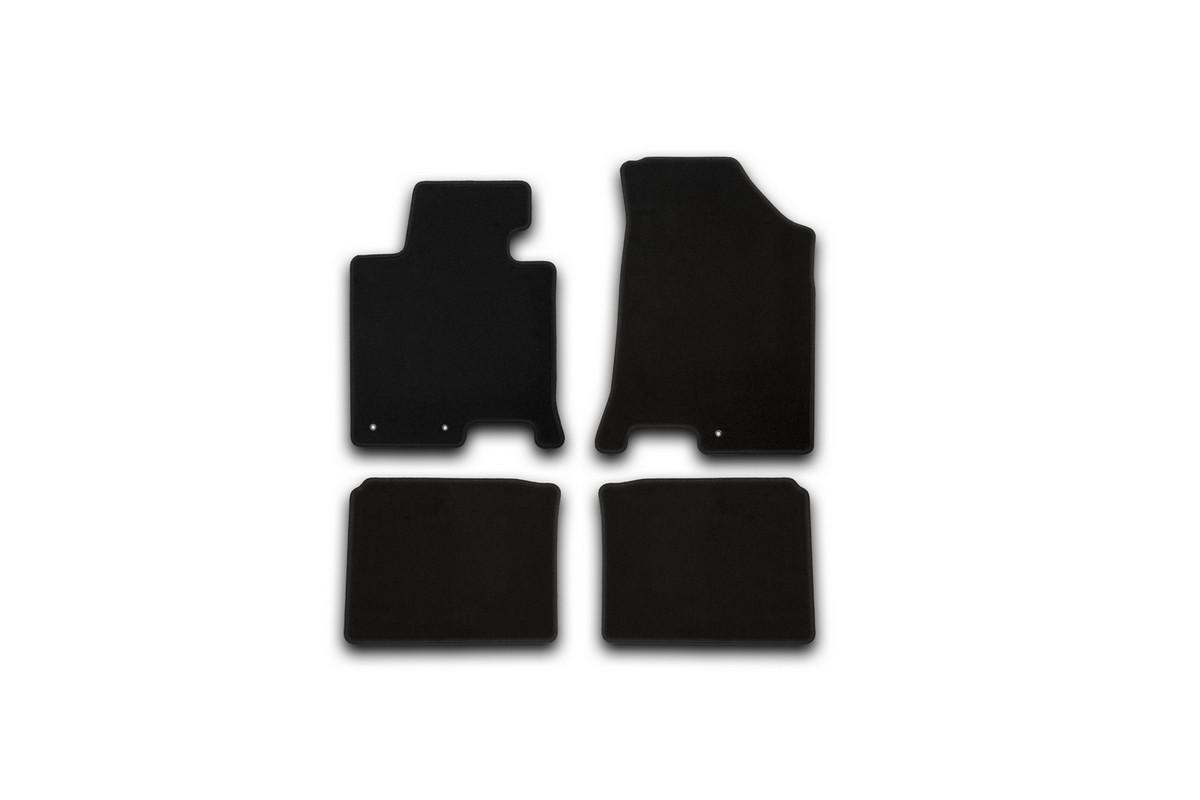 Набор автомобильных ковриков Klever для Hyundai i40 АКПП 2012-, седан, в салон, 4 шт. KVR01204701200k комплект ковриков в салон автомобиля klever premium для audi a4 седан 2007