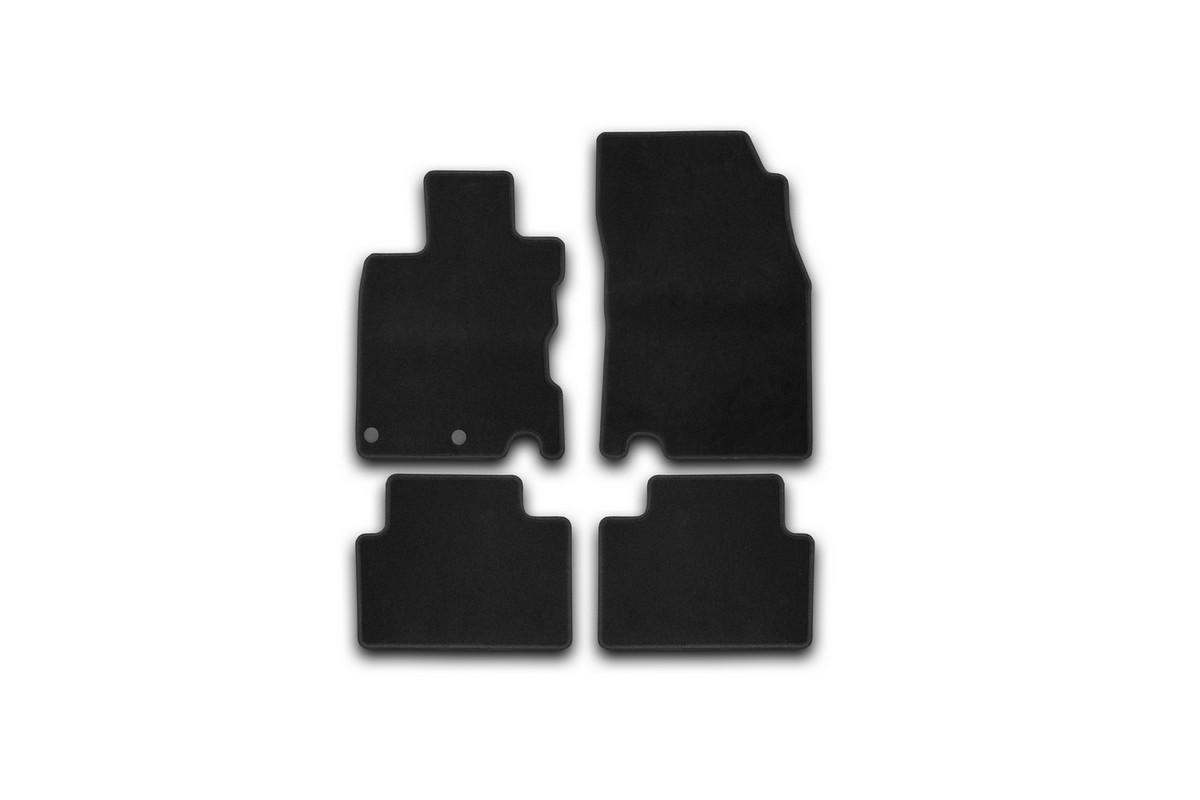 Набор автомобильных ковриков Klever для Nissan Qashqai 2014-, кроссовер, в салон, 4 шт. KVR01364301200k комплект ковриков в салон автомобиля klever nissan x trail 2014 econom