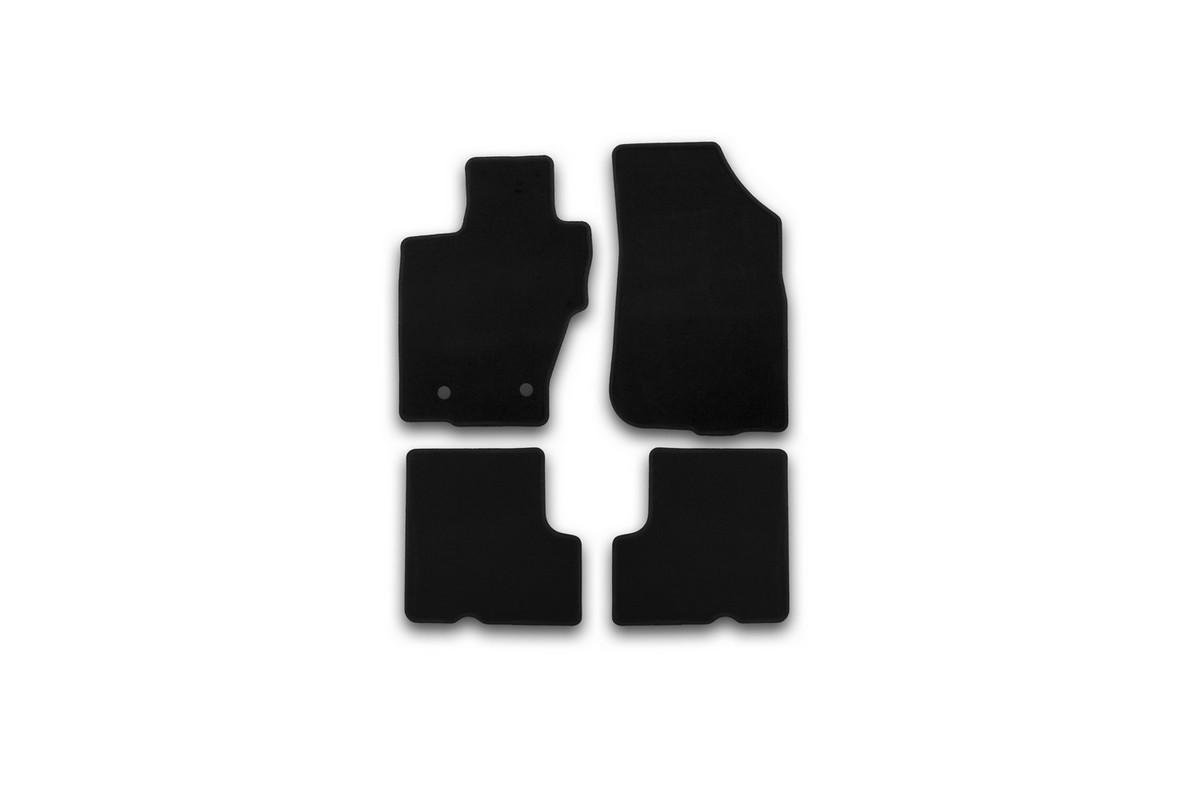 Набор автомобильных ковриков Klever для Nissan Terrano 2014-, кроссовер, в салон, 4 шт. KVR01365501200k текстильные коврики в салон nissan ke7454mf01 для nissan sentra 2014
