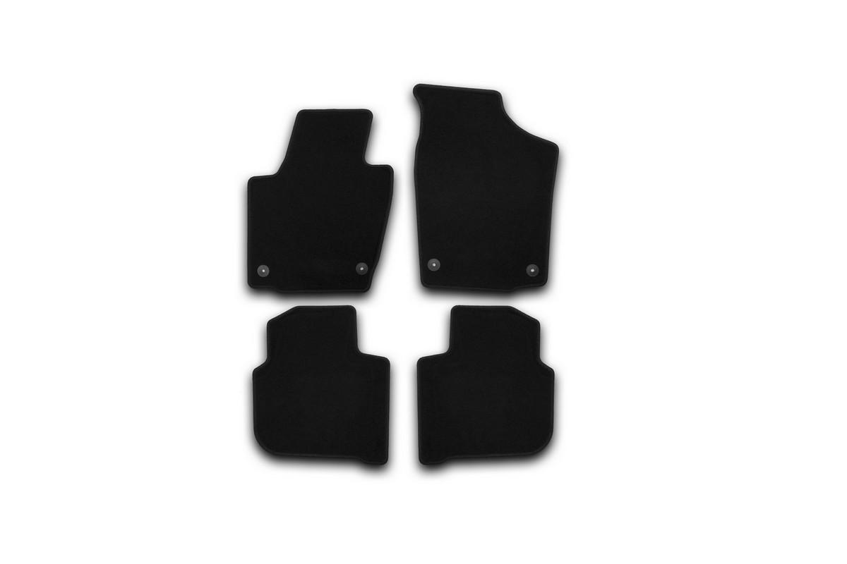 Набор автомобильных ковриков Klever для Skoda Rapid 2012-, седан, в салон, 4 шт комплект ковриков в салон автомобиля klever premium для audi a4 седан 2007