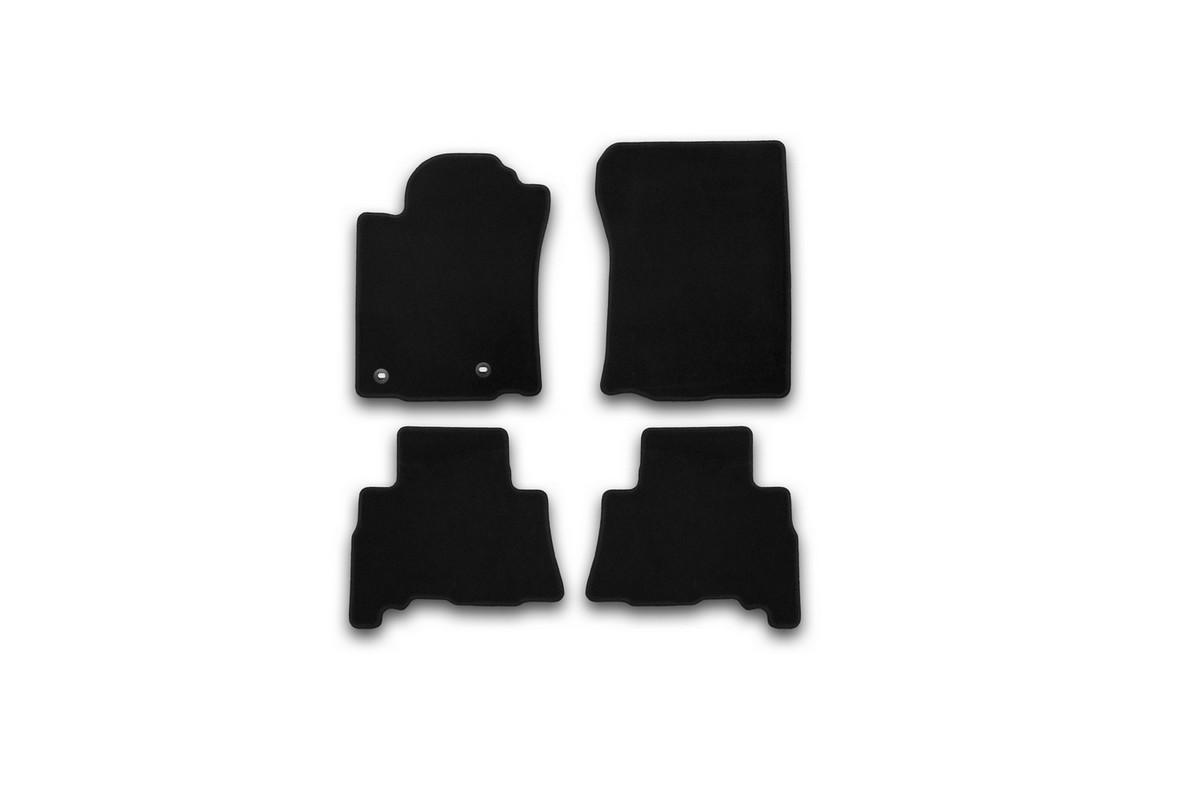 Набор автомобильных ковриков Klever для Toyota Lend Cruiser 150 2013-2015, 2015-, 5 мест, внедорожник, в салон, 4 шт. KVR01482901200k цены онлайн