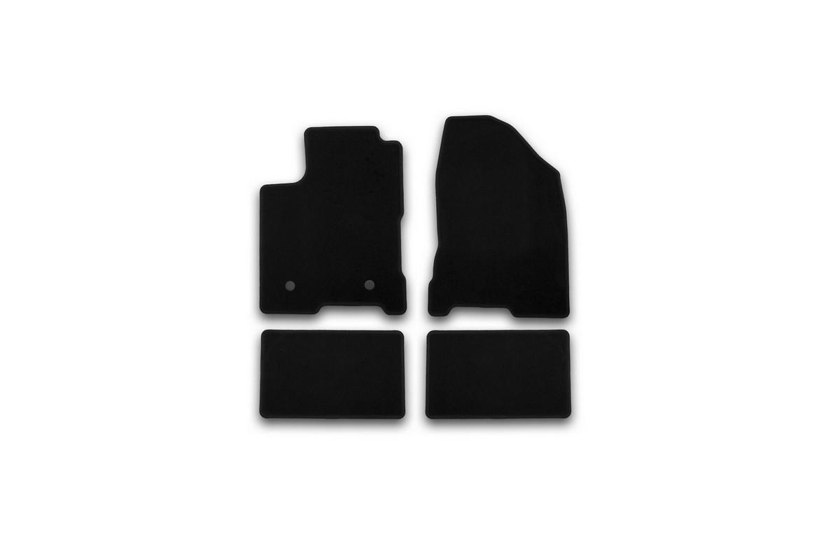 Набор автомобильных ковриков Klever для Lada Vesta 2015-, седан, в салон, 4 шт. KVR01523301200k коврики в салон автомобиля klever standard для lada priora 2007 хэтчбек седан 4 шт