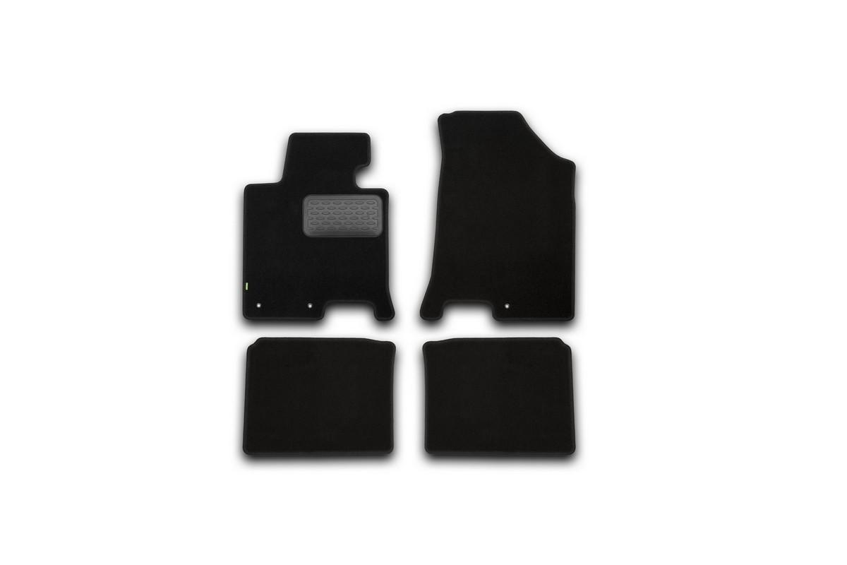 Набор автомобильных ковриков Klever для Hyundai i40 АКПП 2012-, седан, в салон, 4 шт. KVR02204701210kh комплект ковриков в салон автомобиля klever premium для audi a4 седан 2007