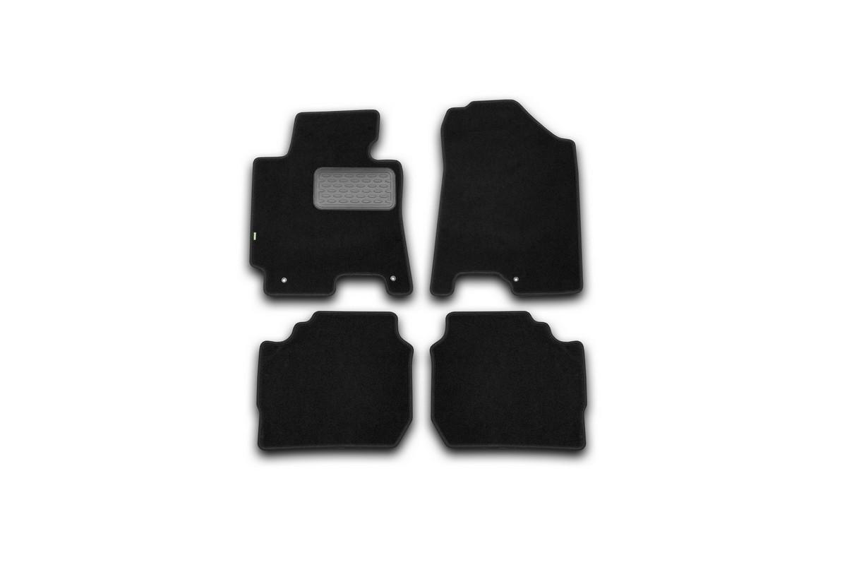 Набор автомобильных ковриков Klever для Kia Cerato АКПП 2013-, седан, в салон, 4 шт. KVR02254801210kh комплект ковриков в салон автомобиля klever kia rio 2011 econom