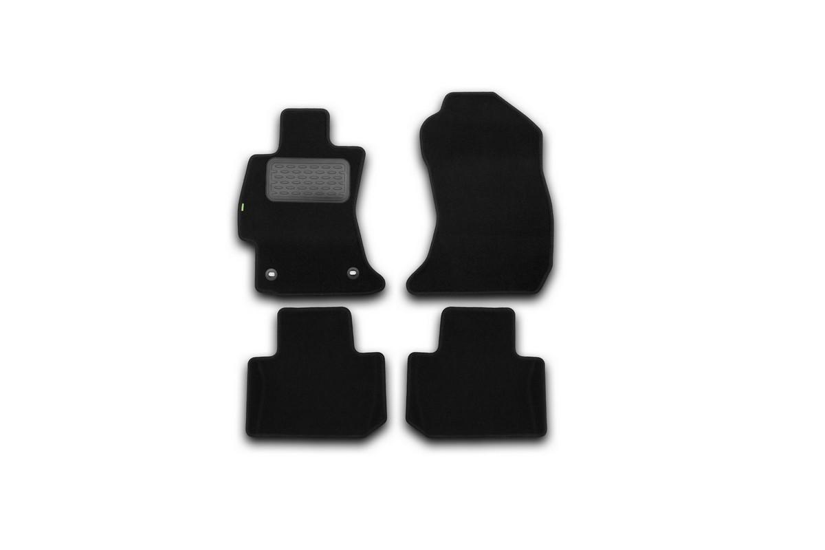 Набор автомобильных ковриков Klever для Subaru Forester 2013-, кроссовер, в салон, 4 шт. KVR02461901210kh