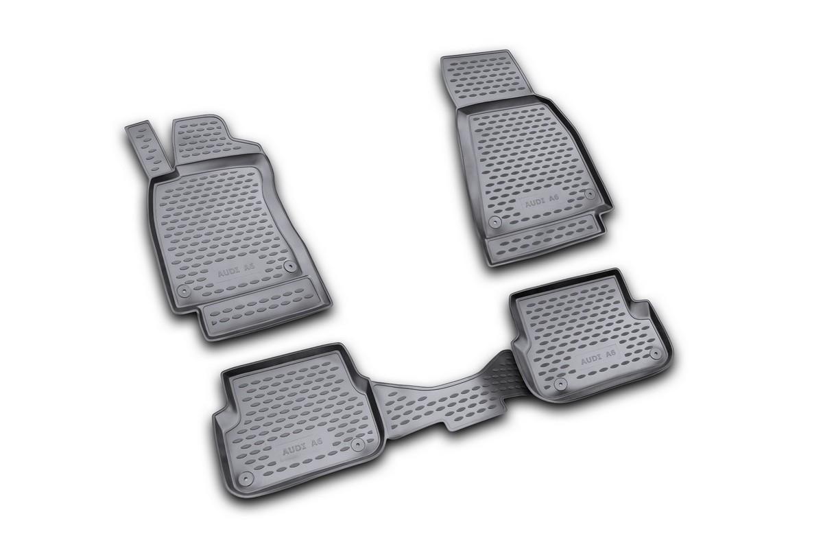 Набор автомобильных ковриков Element для Audi A-6 2004-2/2005, 3/2006-2011, в салон, цвет: черный, 4 шт недорго, оригинальная цена