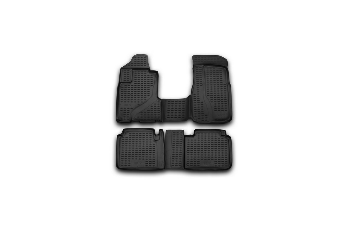 Набор автомобильных ковриков Element для Honda CR-V 2002-2006, в салон, цвет: черный, 4 шт