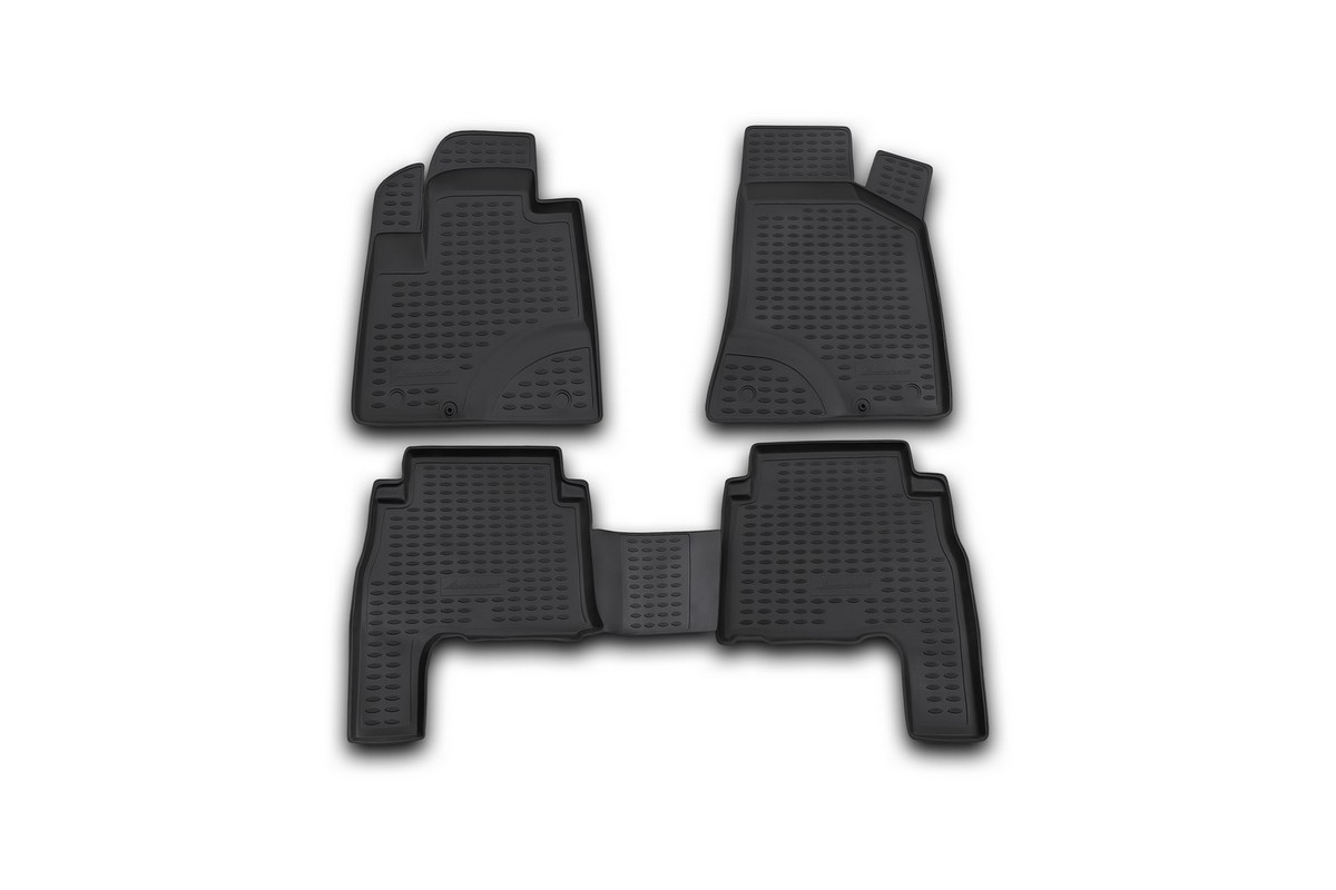 цена на Набор автомобильных ковриков Element для Hyundai Santa Fe 2006-2010, в салон, 4 шт. NLC.20.18.210kh