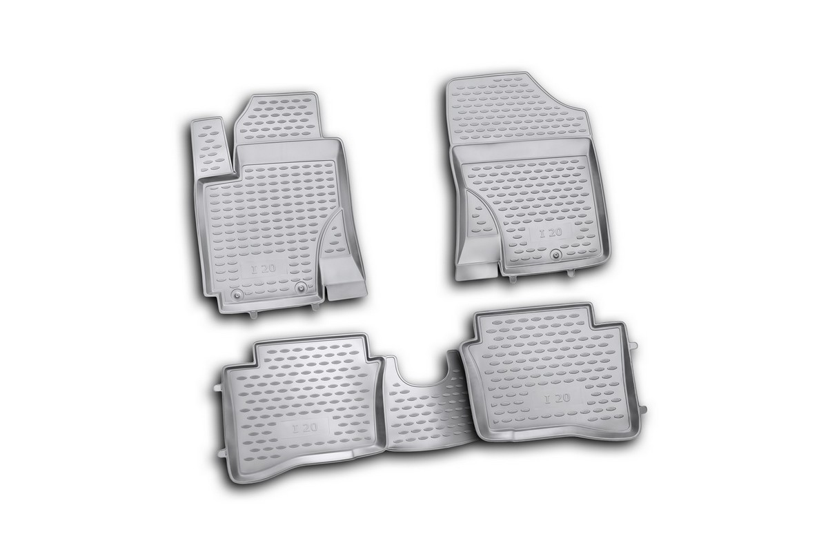 Набор автомобильных ковриков Element для Hyundai i20 2009-, в салон, 4 шт. NLC.20.32.210h набор автомобильных ковриков novline autofamily для hyundai i20 2009 в салон 4 шт nlc 20 32 210h