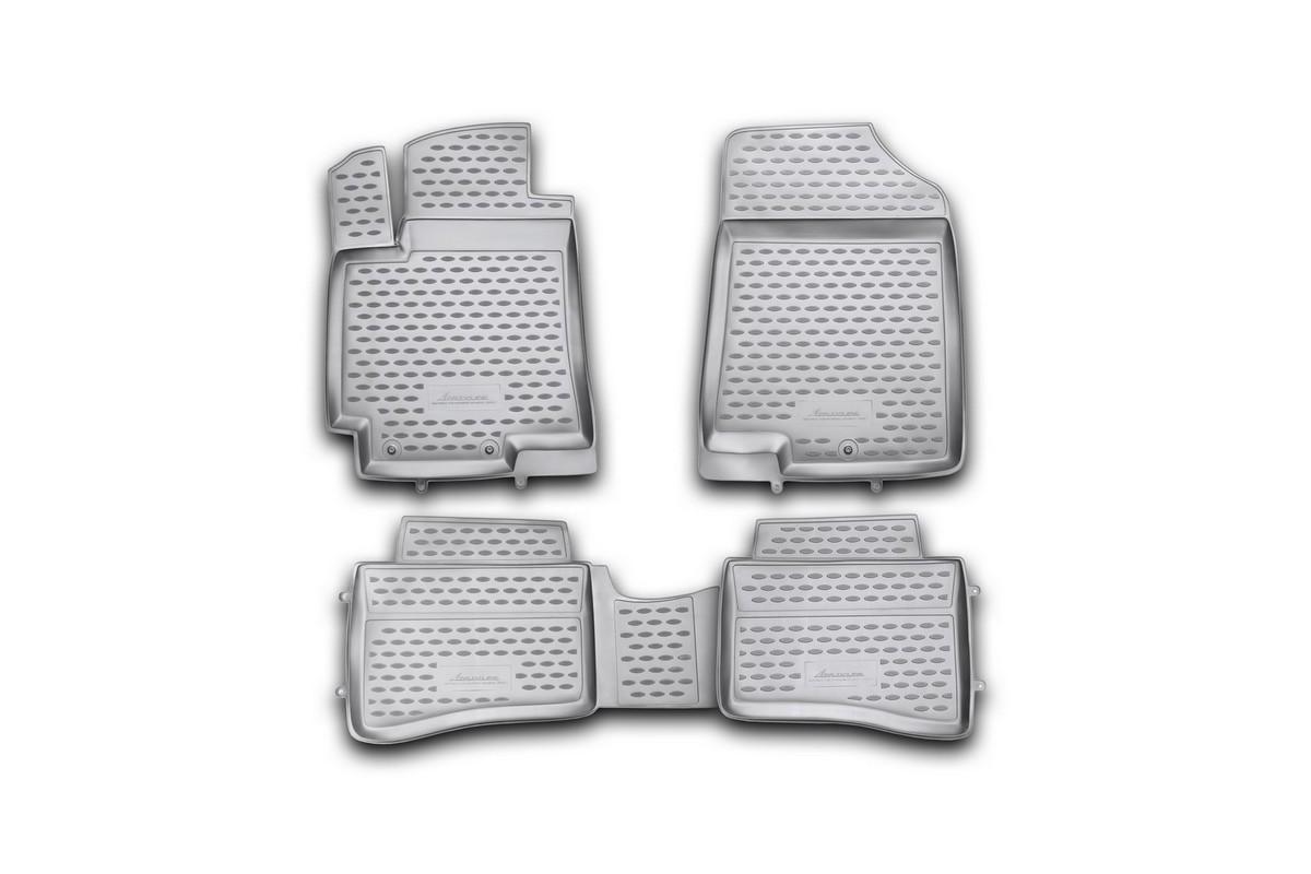 Набор автомобильных ковриков Element для Hyundai Solaris 2010-2014, хэтчбек, в салон, 4 шт набор автомобильных экранов trokot для hyundai solaris 1 2010 наст время на заднее ветровое стекло tr0161 03