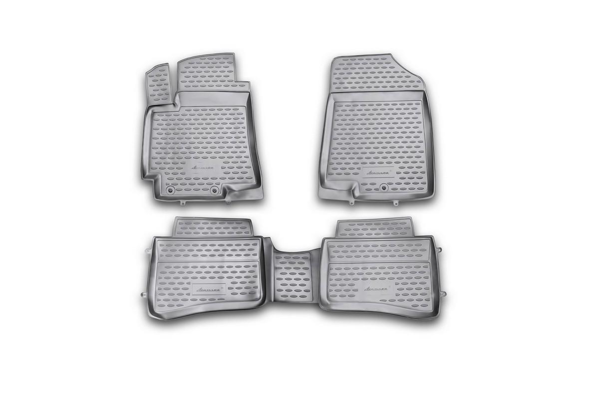 Набор автомобильных ковриков Element для Kia Rio 2011-, в салон, 4 шт комплект ковриков в салон автомобиля klever kia rio 2011 econom