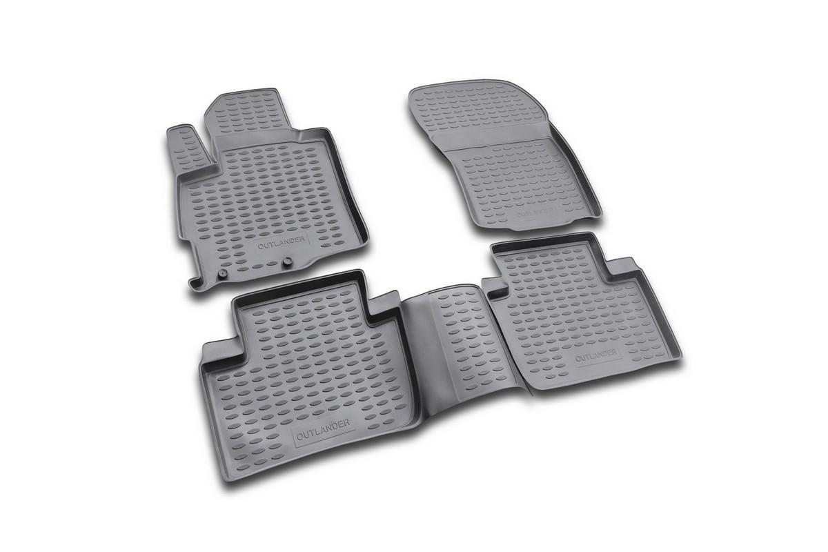Набор автомобильных ковриков Element для Mitsubishi OutLender XL 2005-2010, 2010-2012, в салон, 4 шт набор автомобильных ковриков element для hyundai sonata 2010 в салон 4 шт
