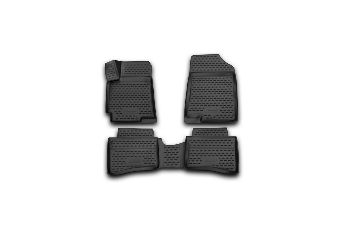 Набор автомобильных 3D-ковриков Element для Hyundai Solaris, 2014->, седан, хэтчбек, в салон, 4 шт недорго, оригинальная цена