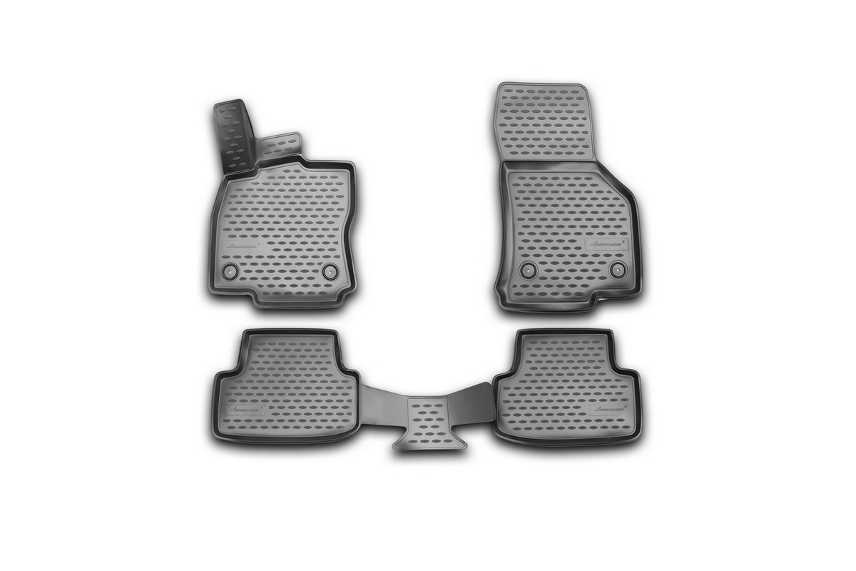 Набор автомобильных 3D-ковриков Element для Volkswagen Golf VII, 2013->, в салон, 4 шт комплект 3d ковриков в салон автомобиля novline autofamily volkswagen golf vii 2013