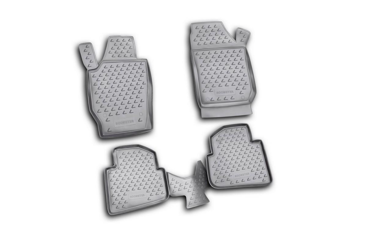Набор автомобильных ковриков Element для Skoda Roomster 2006-, в салон, 4 шт. NLC.45.07.210k коврики салона для skoda roomster 5j 2006 пер