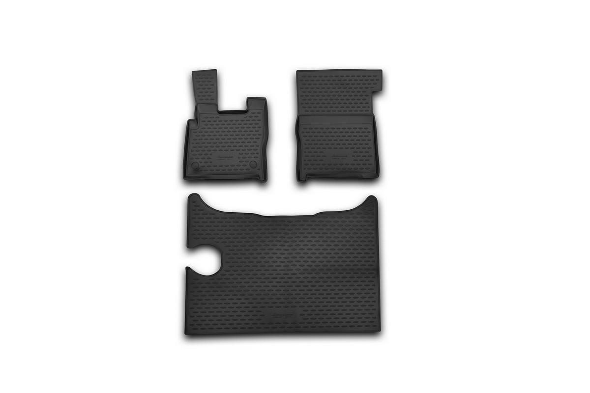 Набор автомобильных ковриков Element для DAF XF 2014-, в салон, 3 шт комплект ковриков в салон автомобиля novline autofamily daf xf 2014