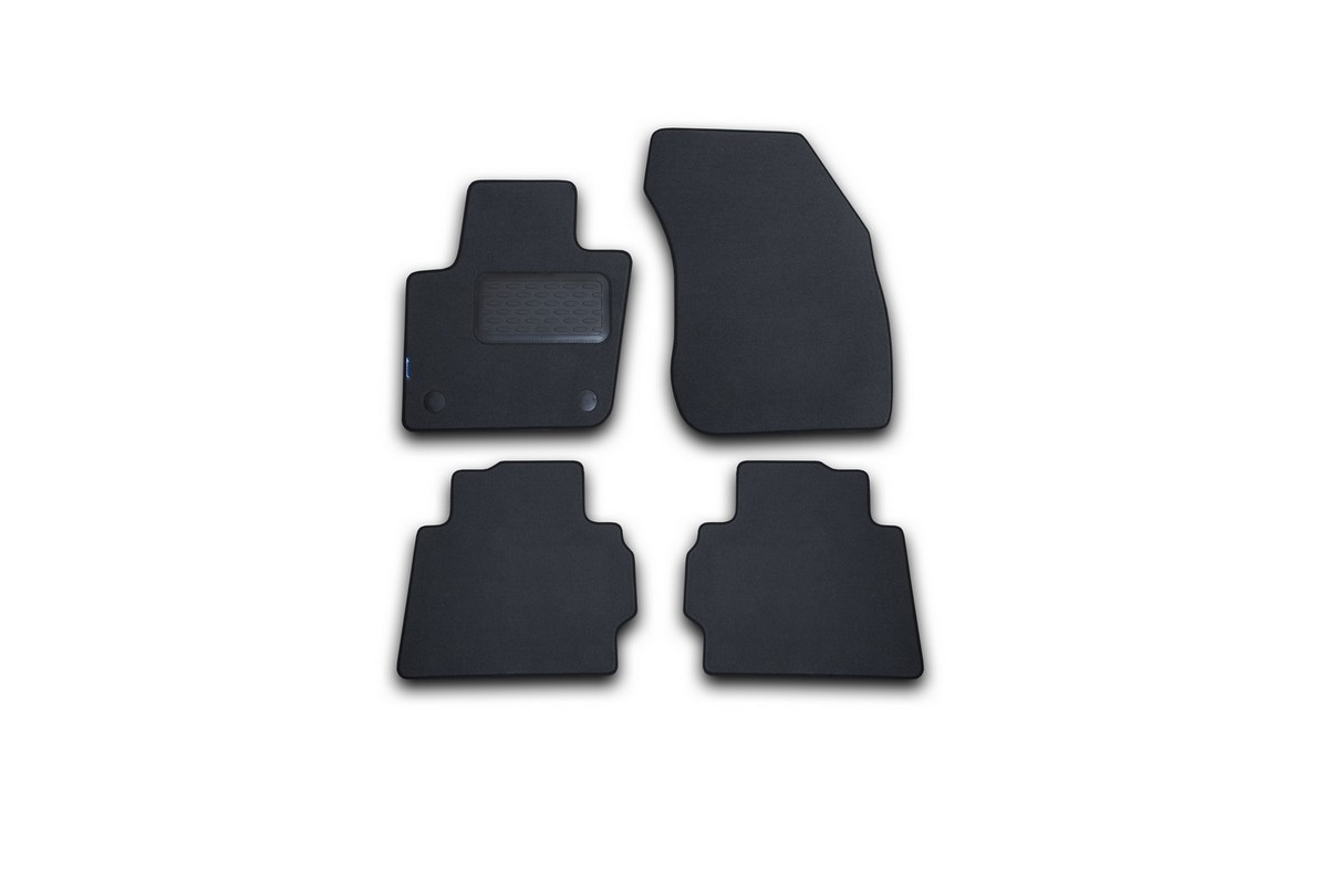 Набор автомобильных ковриков Klever для Ford Mondeo 2015-, седан, в салон, цвет: серый, 4 шт. NLT.16.66.22.111kh цены онлайн
